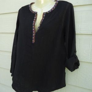 NWT ANTHROPOLOGIE/A COMMON TREAD/ POPOVER BLOUSE.